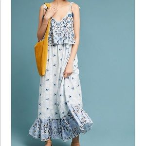 Anthropologie Let Me Be Annike Embroidered Dress